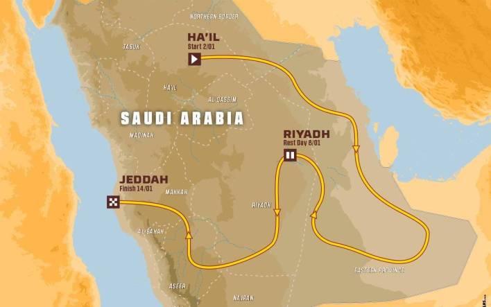 Map Dakar 2022
