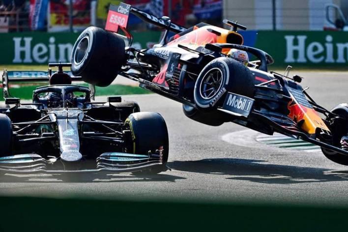 Lewis Hamilton and Max Verstappen