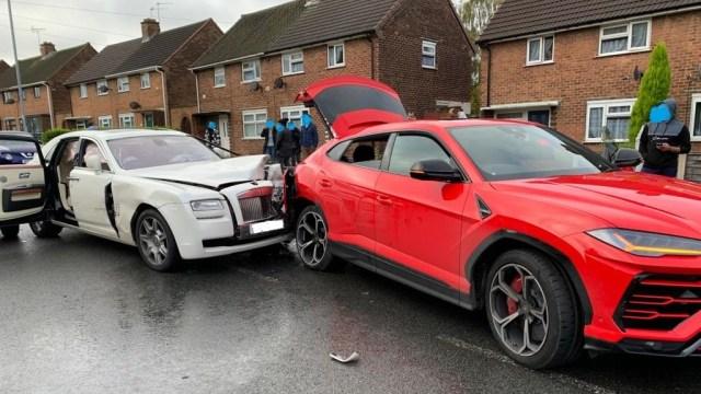 Milijunska šteta u manjoj prometnoj nezgodi – Royceom na Lambo