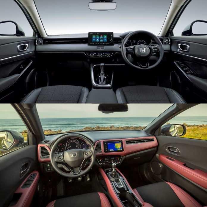 Visual comparison Honda HR-V 2021