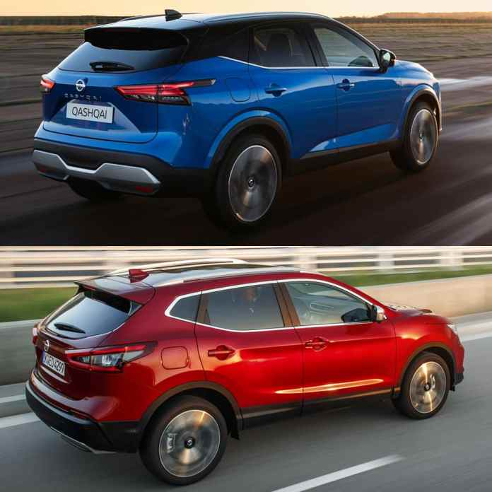 Visual comparison Nissan Qashqai 2021