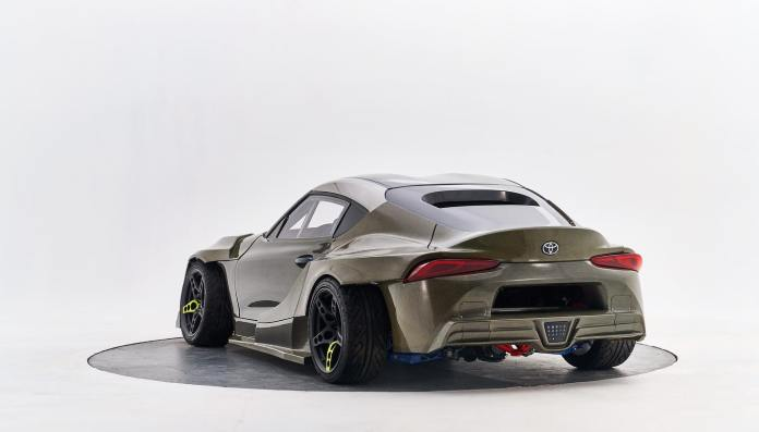 2JZ-GTE engine and carbon fiber and Kevlar bodywork