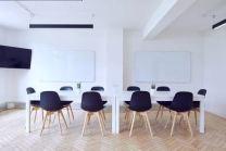 neat meeting room