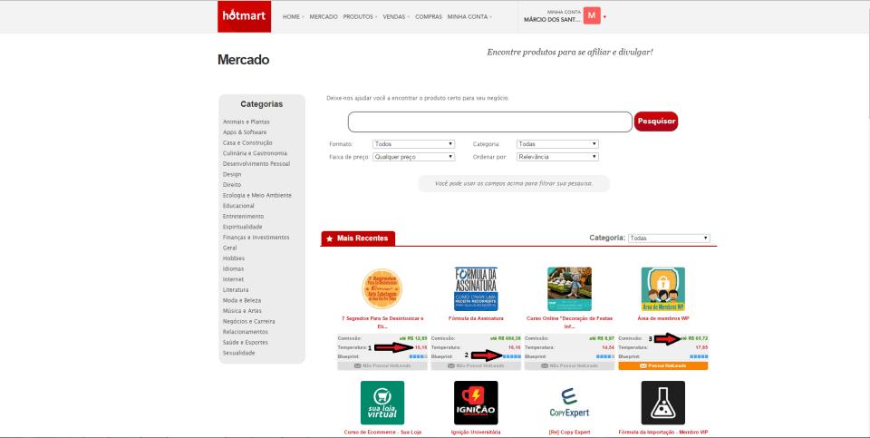 hotmart-escolhendo-produtos