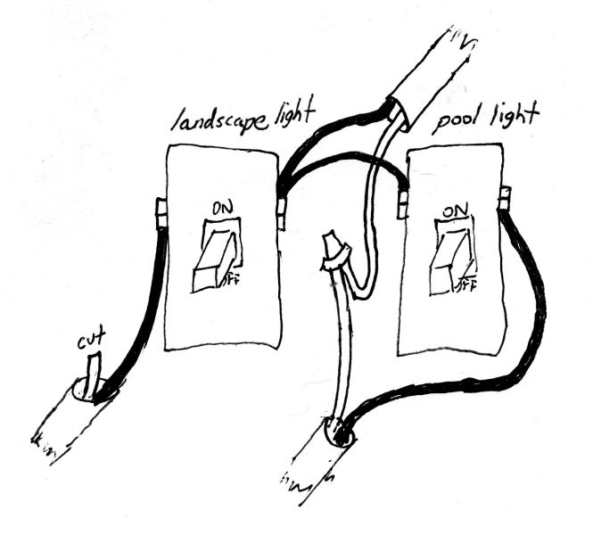 wiring a light to an existing outlet