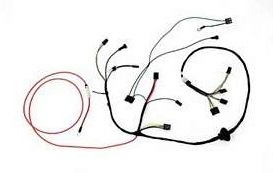 Air Conditioning Wiring Harness w/ Heater Wiring, 1972-73