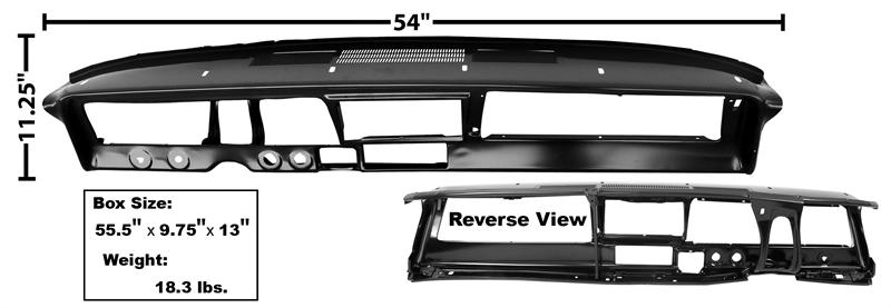 Dash Panel Steel, 1966-67 Nova