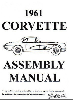 Assembly Manual w/ Factory Instruction Guide, 1961 Chevy