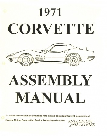 Assembly Manual w/ Factory Instruction Guide, 1971 Chevy