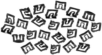 Molding Clips Windshield 25-Pieces, 1969-70 Ford Mustang
