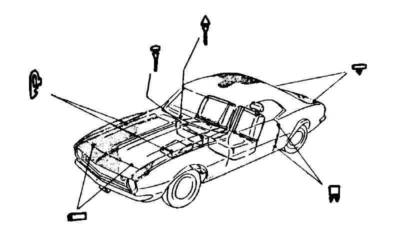 Rubber Bumper Kits w/ Adjustment Bumpers & Bolts, 1971-72