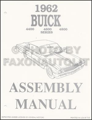 Assembly Manual w/ Factory Instruction Guide, 1962 Buick