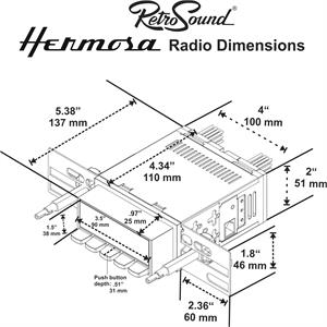 RetroSound AMC/ Jeep Hermosa In Dash Stereo, Gremlin