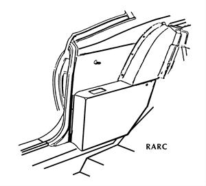 Rear Arm Rest Covers, Coupe, US-made, 1968-72 Skylark