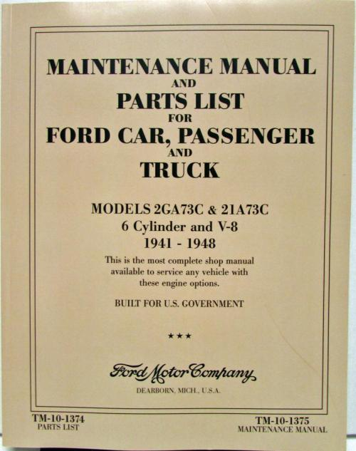 small resolution of 1941 1942 1946 1947 1948 ford car truck 6 cyl v8 flathead shop manual parts list