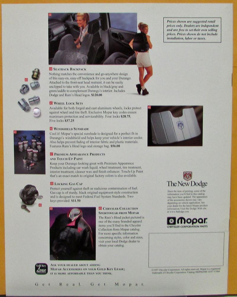 medium resolution of 2001 dodge durango accessory
