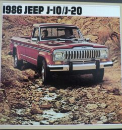 1986 jeep j10 j20 pickup original dealer sales brochure [ 1000 x 984 Pixel ]