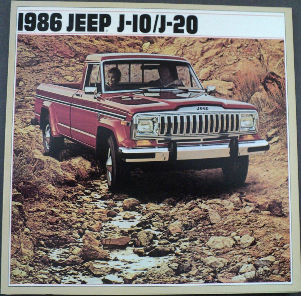 hight resolution of 1986 jeep j10 j20 pickup original dealer sales brochure