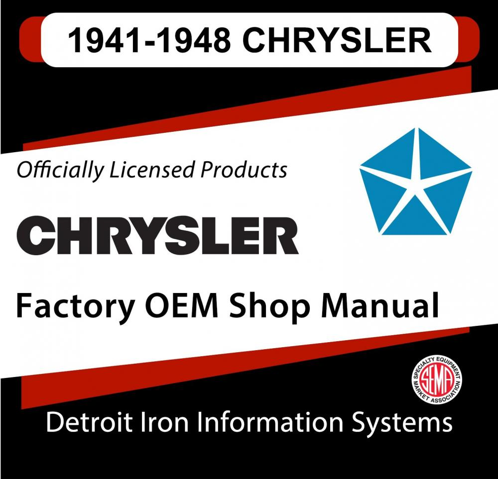 medium resolution of 1941 1942 1946 1947 1948 chrysler imperial shop manual and sales brochure cd