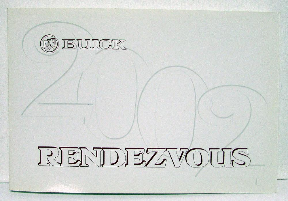 2002 Buick Rendezvous Owners Operators Manual Original