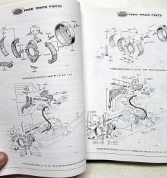 1963 63 ford truck parts catalog manual f 100 250 350 pickup diesel hd tilt cab [ 1000 x 807 Pixel ]