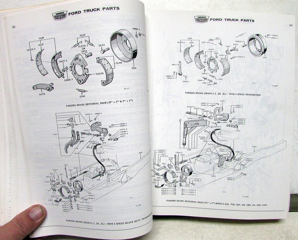 medium resolution of 1963 63 ford truck parts catalog manual f 100 250 350 pickup diesel hd tilt cab