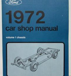 1972 nos ford lincoln mercury service shop manual mustang cougar mark iv t bird [ 823 x 1000 Pixel ]