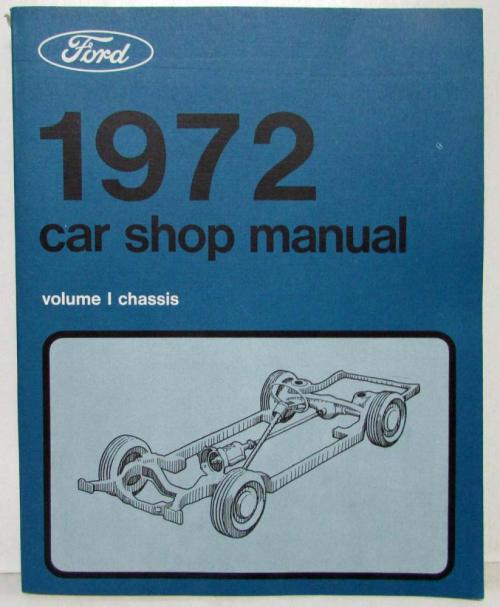 small resolution of 1972 nos ford lincoln mercury service shop manual mustang cougar mark iv t bird