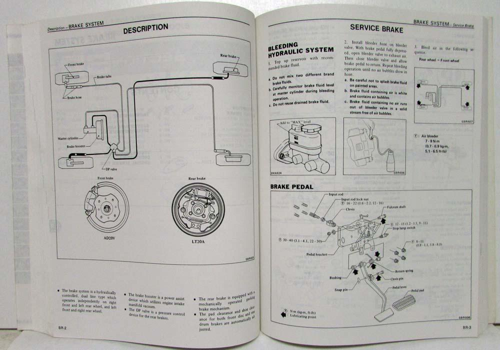 1982 Datsun Nissan Stanza Service Shop Repair Manual Model