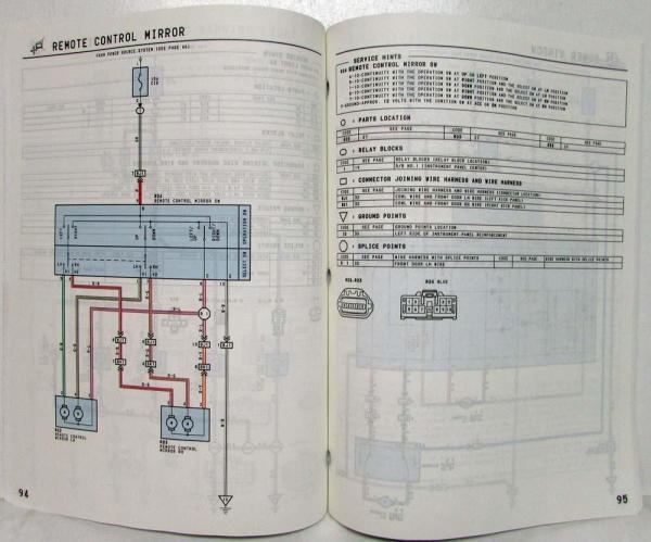 1997 toyota previa electrical wiring diagram manual