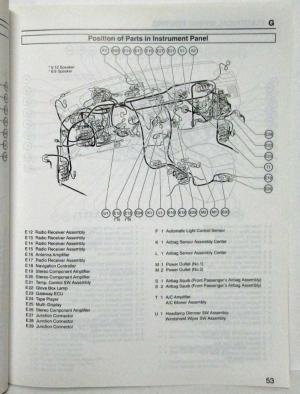 2005 Toyota Avalon Electrical Wiring Diagram Manual