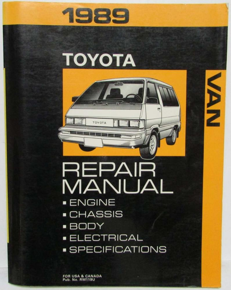 hight resolution of 1989 toyota van service shop repair manual plus electrical wiring diagram