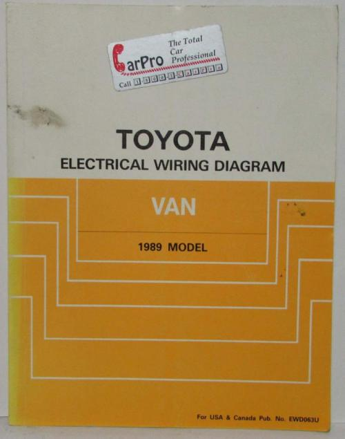 small resolution of 1989 toyota van service shop repair manual plus electrical wiring diagram
