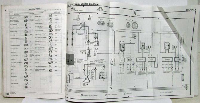 1993 toyota celica electrical wiring diagram manual us  canada