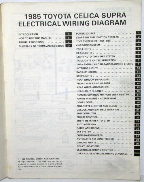 small resolution of 1985 toyotum supra wiring diagram