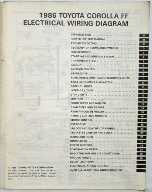 small resolution of 1986 toyota corolla ff shop repair manual electrical wiring diagram manual
