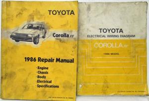 1986 Toyota Cars & Trucks Sales Brochure Celica MR2