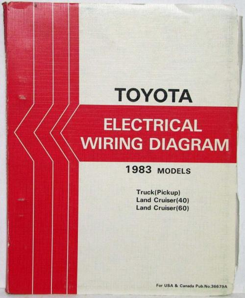 small resolution of 1983 toyota truck and land cruiser electrical wiring diagram manual us canada
