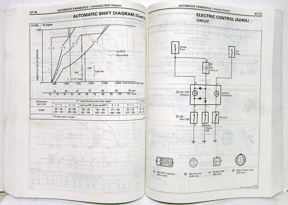 1985 Toyota Corolla FF Shop Repair Manual & Electrical