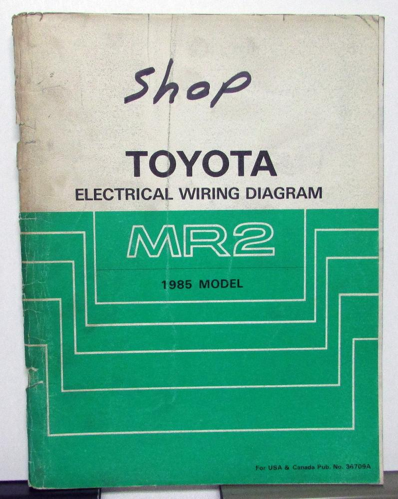 hight resolution of 1985 toyota mr2 service shop repair manual electrical wiring diagram us ca
