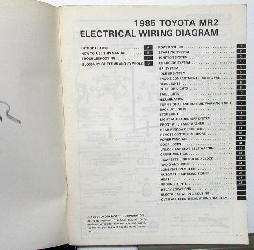 small resolution of 1985 toyota mr2 service shop repair manual electrical wiring diagram us ca