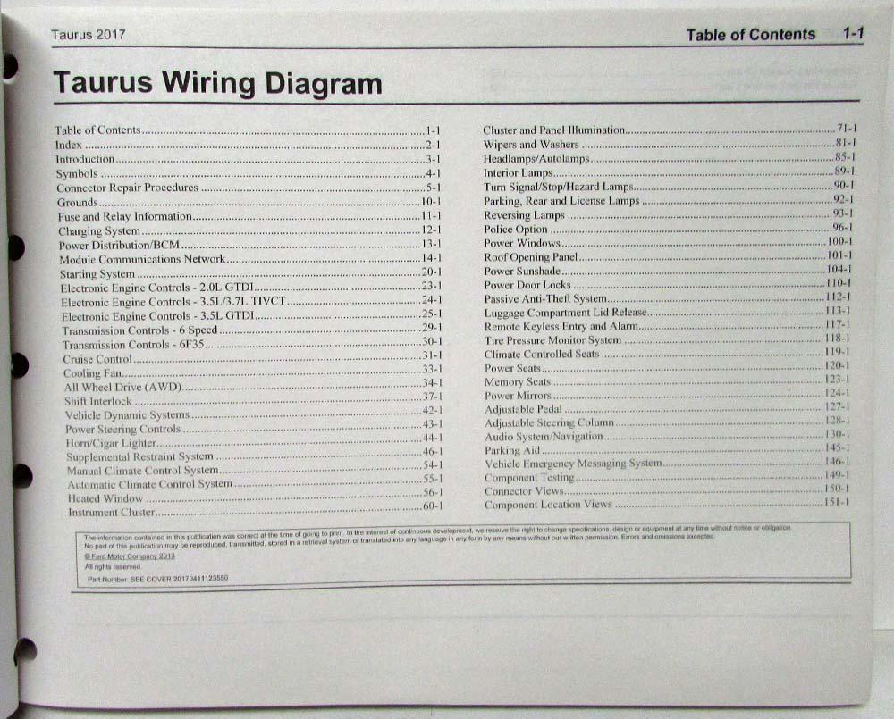 medium resolution of 2017 ford taurus interceptor electrical wiring diagrams manual