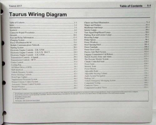 small resolution of 2017 ford taurus interceptor electrical wiring diagrams manual