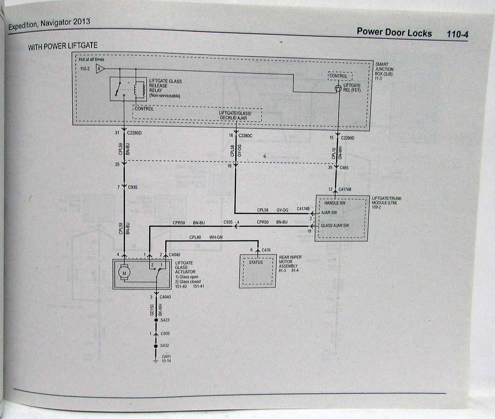 medium resolution of 2013 ford expedition lincoln navigator electrical wiring diagrams manual
