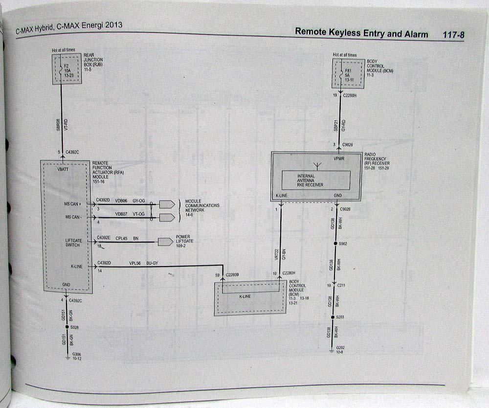hight resolution of 2013 ford c max hybrid energi electric electrical wiring diagrams manualc max wiring diagram 8