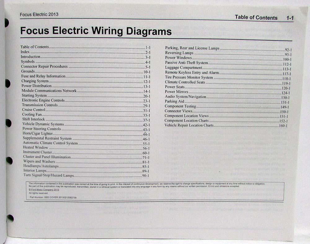 medium resolution of 2013 ford focus electric electrical wiring diagrams manual 05 ford focus wiring diagram