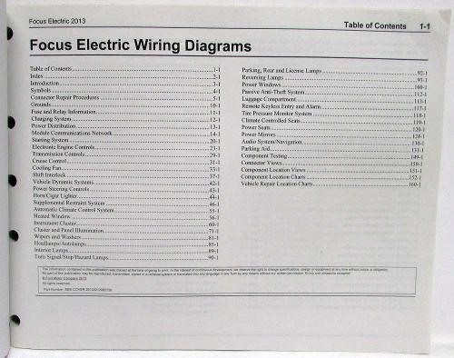 small resolution of 2013 ford focus electric electrical wiring diagrams manual 05 ford focus wiring diagram