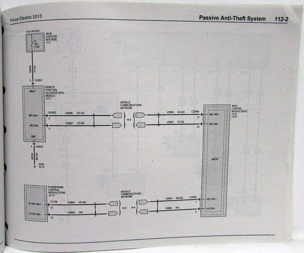 medium resolution of 2013 ford focus electric electrical wiring diagrams manual 2013 ford focus wiring diagram
