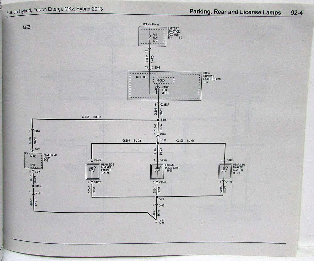 medium resolution of 2013 ford fusion energi lincoln mkz hybrid electrical wiring diagrams manual
