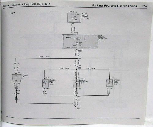 small resolution of 2013 ford fusion energi lincoln mkz hybrid electrical wiring diagrams manual
